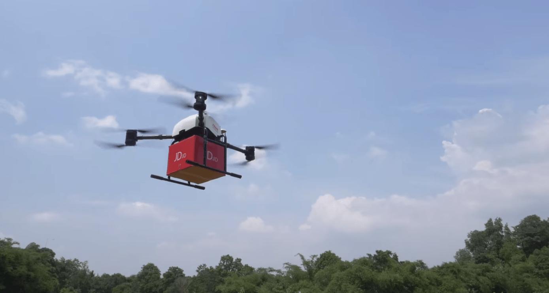Pengiriman paket dengan drone oleh JD.com. Foto: Youtube.com