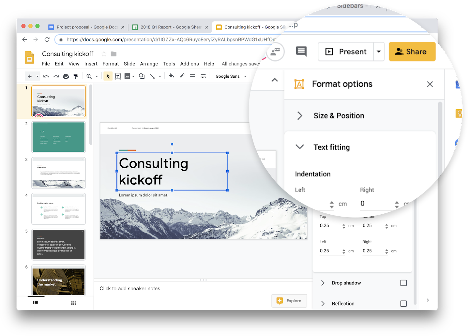Google Docs, Sheets, Slides and Sites on the web are going Material Design