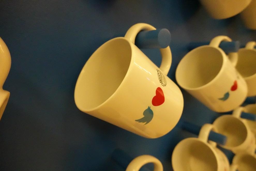 Twitter logo mugs