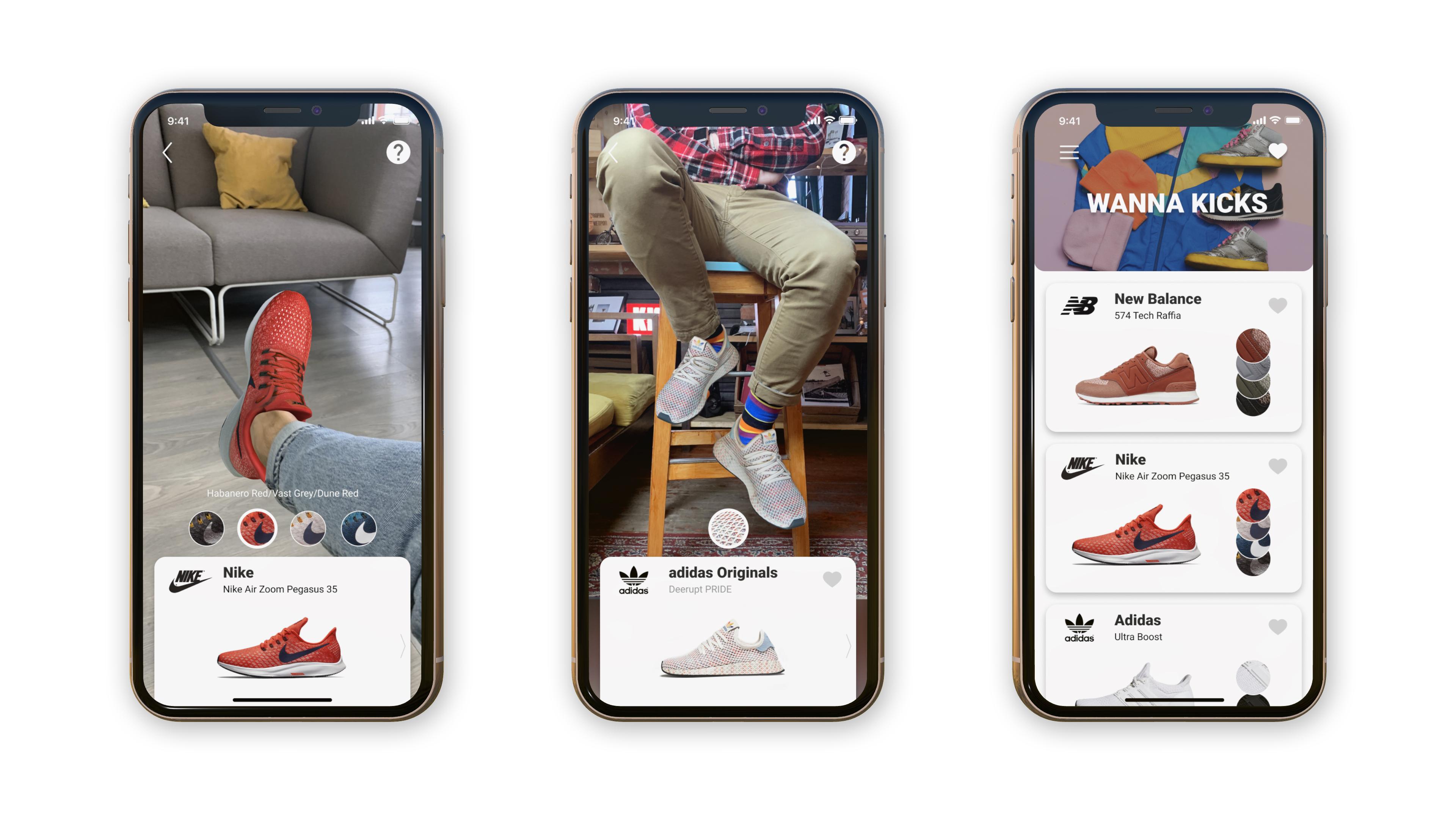 Wanna Kicks, a new AR app from Wannaby