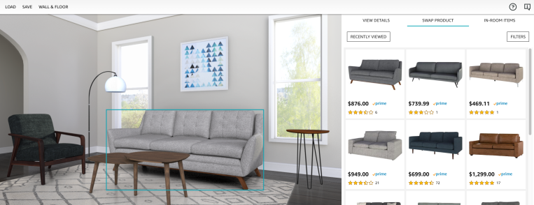 QnA VBage Amazon debuts Showroom, a visual shopping experience for home furnishings