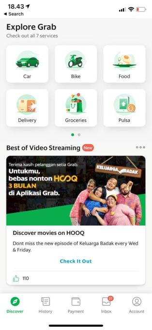 Southeast Asia's Grab is adding Netflix-like video streaming to its ride-hailing app