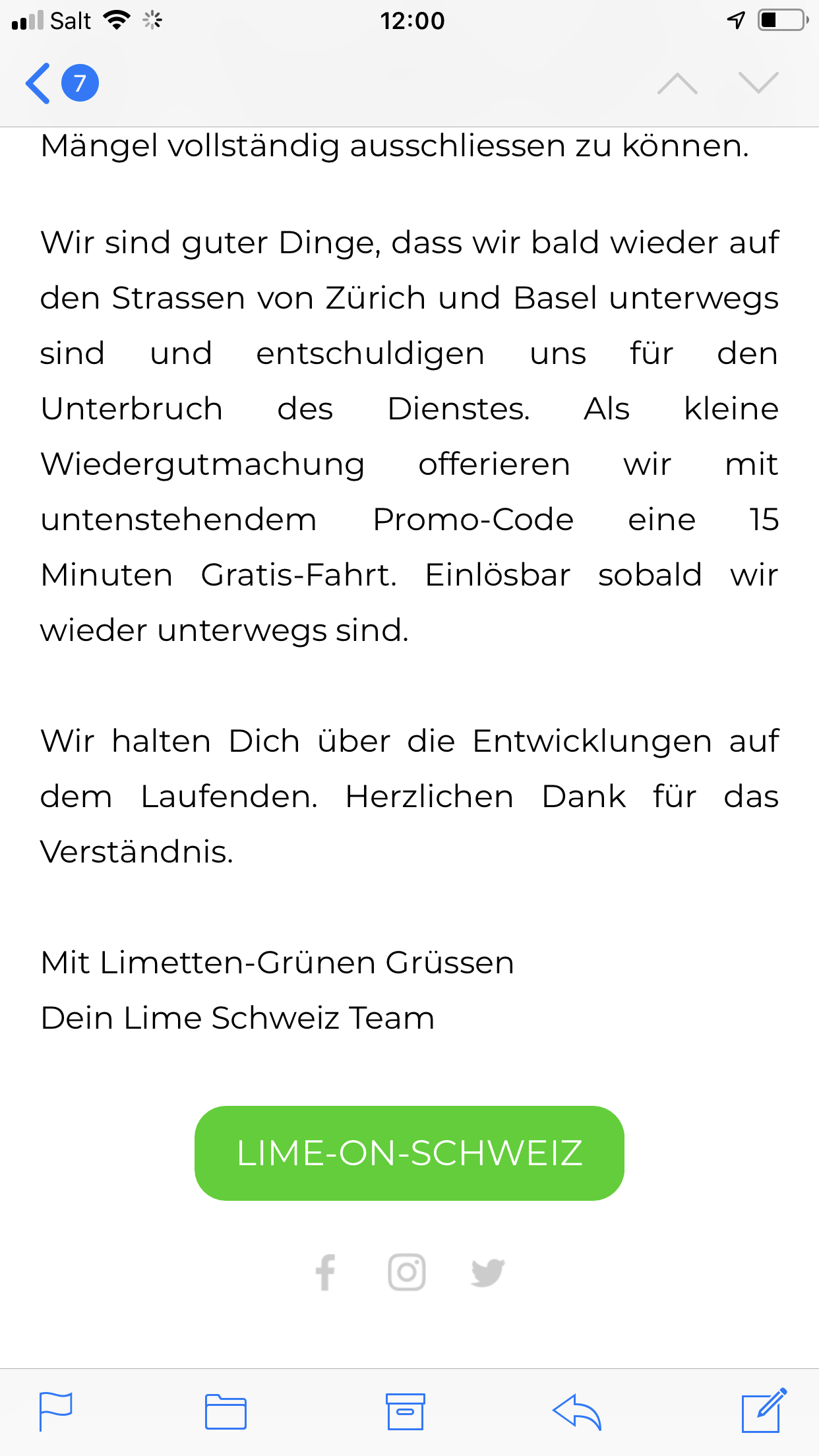 Lime halts scooter service in Switzerland after possible software