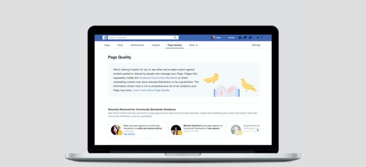 Facebook may proactively close Pages and Groups before they're in