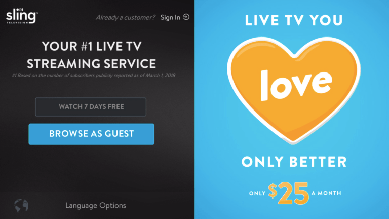 Sling TV rolls out free content to non-subscribers, initially on