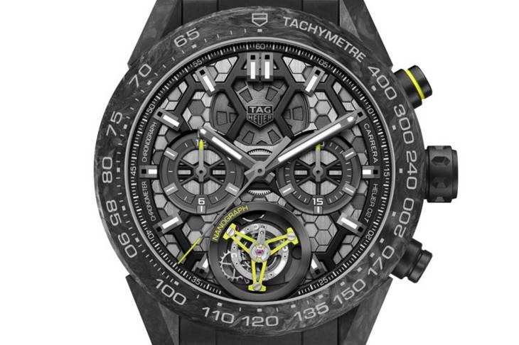 taglia 40 d8553 e12a5 The new TAG Heuer Carrera Calibre Tourbillon Nanograph is a ...