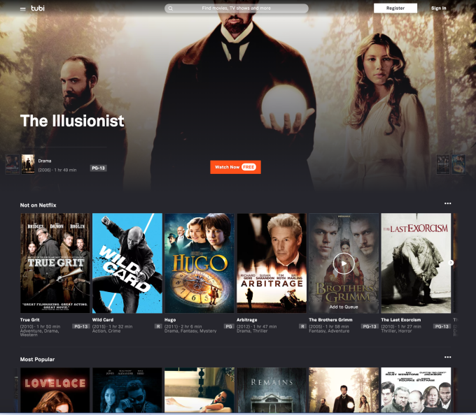 Free streaming service Tubi plans to invest $100M+ on content in 2019, expand internationally