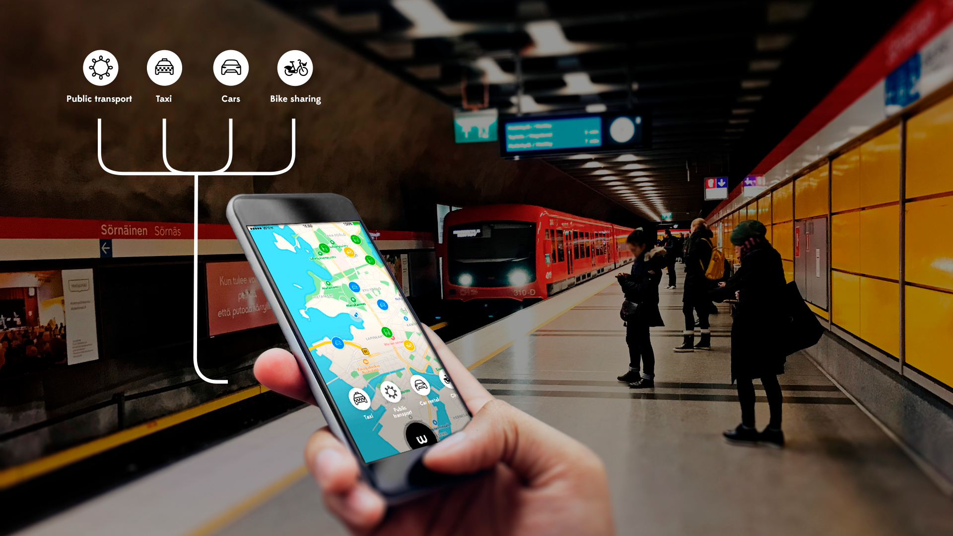 Whim, the all-in-one mobility app for ridesharing, public transit
