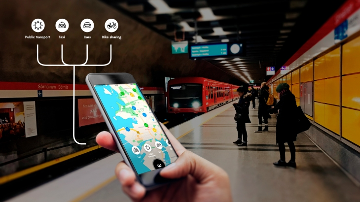 Whim, the all-in-one mobility app for ridesharing, public