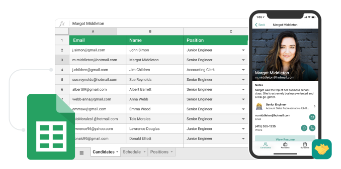 Glide helps you build mobile apps from a spreadsheet without