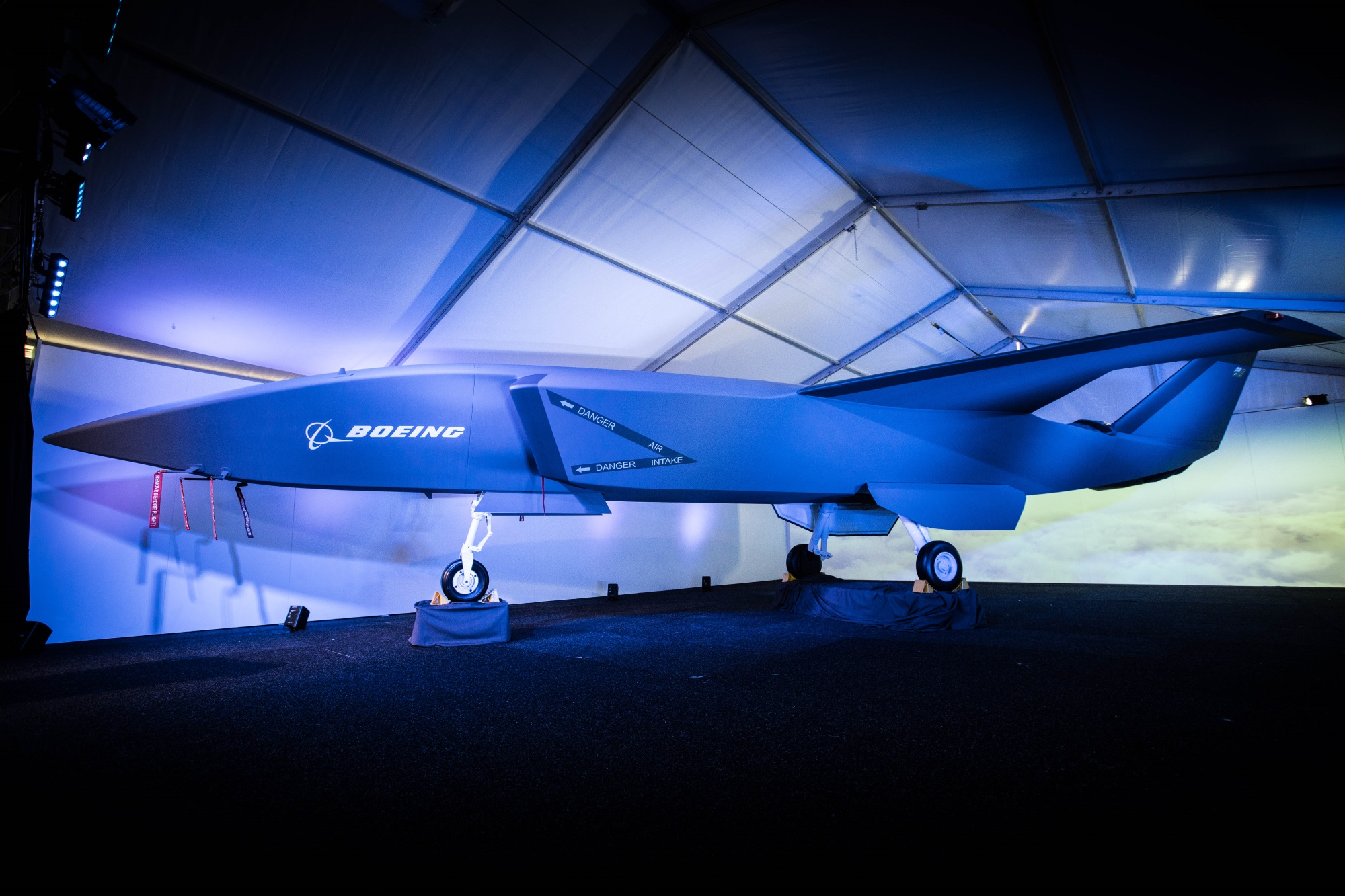 Boeing's 'Wingman' drone buddies up with pilot-flown jets Boeing Airpower Teaming System Model1
