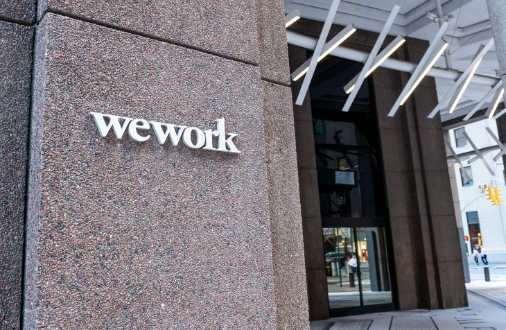 WeWork location in the Financial District in New York City