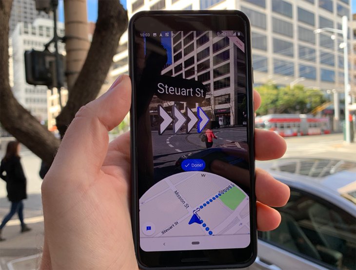 Hands-on with an Alpha build of Google Maps' Augmented ... on youtube singapore, google singapore map directory, google map road singapore, city street map of singapore, raffles hotel singapore,