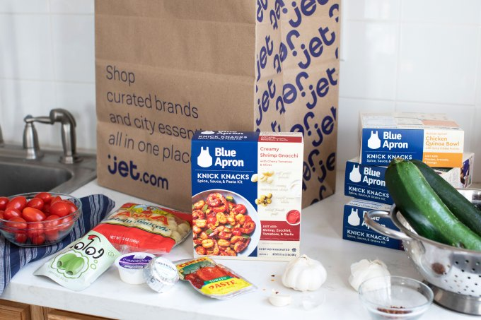 Blue Apron hopes lower cost meal kits, now on Jet in NYC, will help save its business