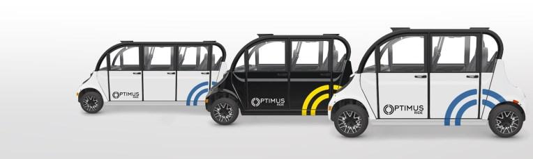 Optimus ride vehicle lineup