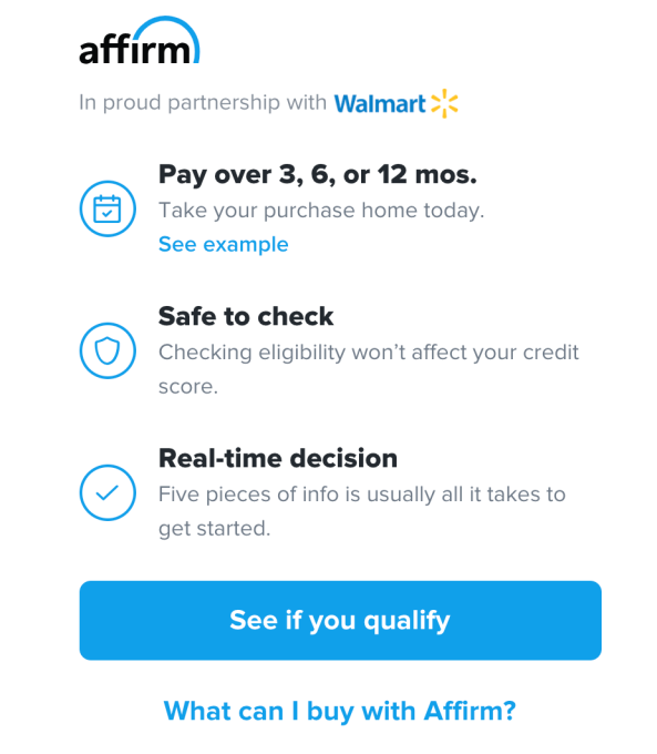 Affirm's latest partnership brings its alternative financing to Walmart's U.S. stores and website