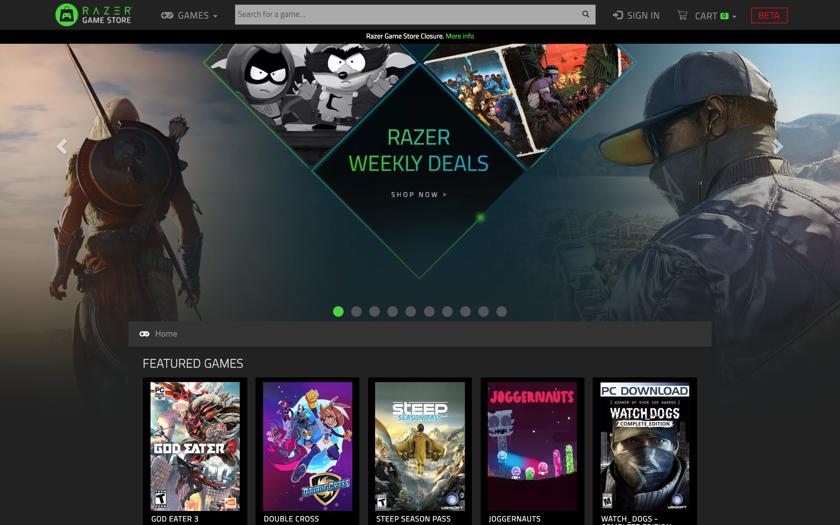 Razer is closing its game store after less than a year Screenshot 2019 02 18 12