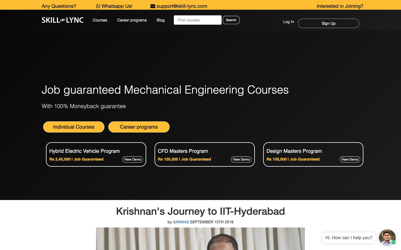 Online learning startup Skill-Lync promises India's