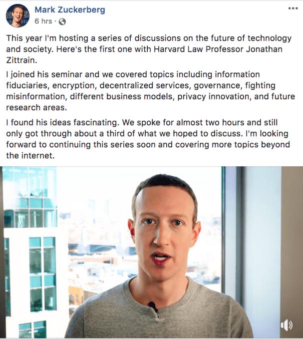Highlights & transcript from Zuckerberg's 20K-word ethics talk