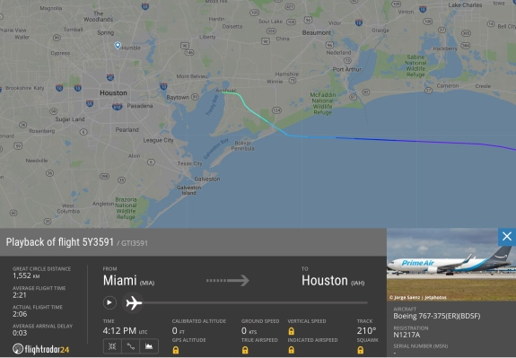 Amazon Air cargo plane operated by Atlas crashes in Texas, killing 3 on board