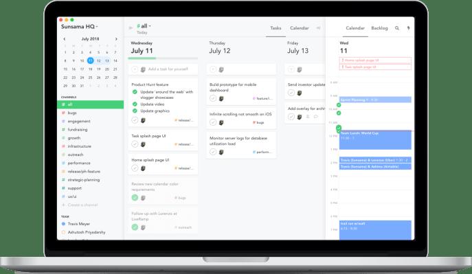 Sunsama's $10/month task management calendar cleans up your online productivity desktop app kanban calendar screenshot 2x min