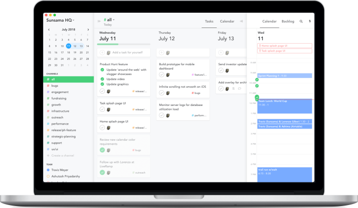 Sunsama's $10/month task management calendar cleans up your