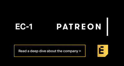 Read a deep dive of Patreon on Extra Crunch