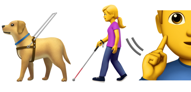 QnA VBage Official emoji debut for disabled folks, service dogs, waffles and more
