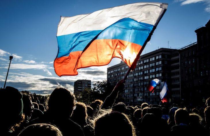 러시아 - 반대 - 데모