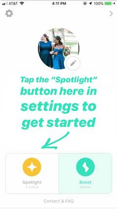 Bumble launches Spotlight, its own version of Tinder's Boost