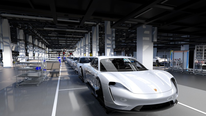 Porsche Taycan production forecast may be 'conservative' taycan porsche production 4 0 2018 porsche ag