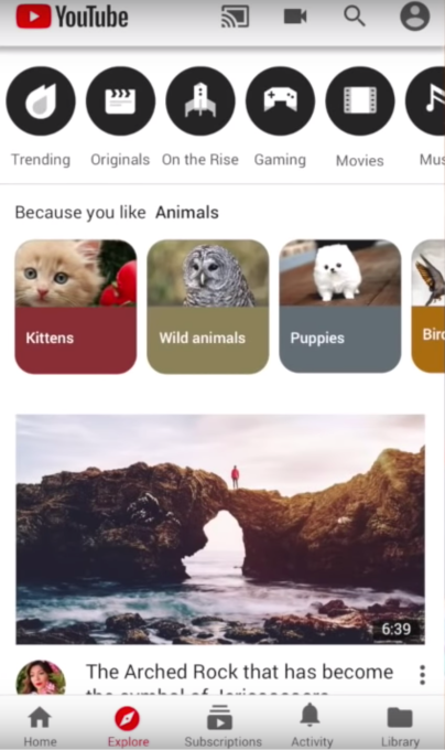 766d48477c9c8 YouTube expands test of its Instagram-like Explore tab to more ...