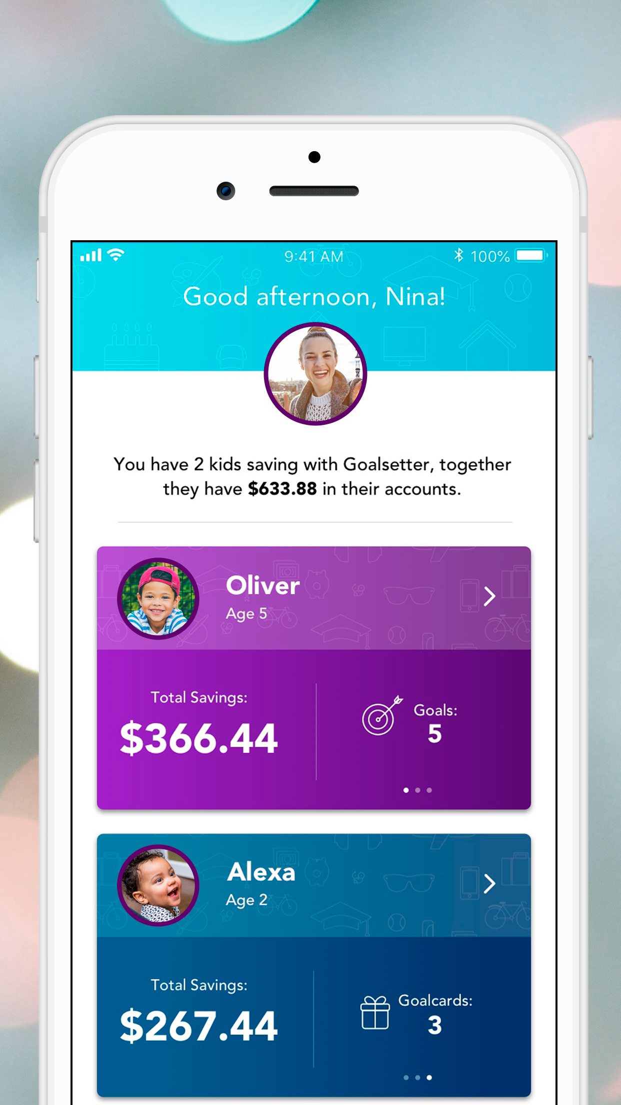 Goalsetter gives parents a way to teach their kids how to save money