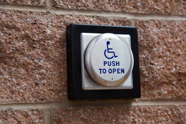 photo image Portal automatically opens doors for wheelchair users, no button pressing required