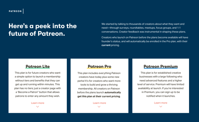 Patreon ups its revenue cut, but grandfathers in old creators