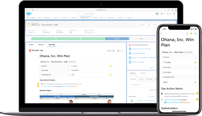 Salesforce finally embedding Quip into platform, starting with Sales and Service Cloud Salesforce finally embedding Quip into platform, starting with Sales and Service Cloud Quip for Salesforce 1