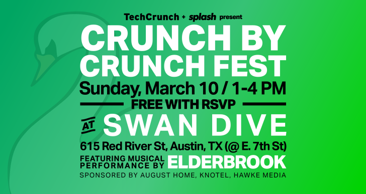 Reach to TechCrunch's SXSW panels and celebration