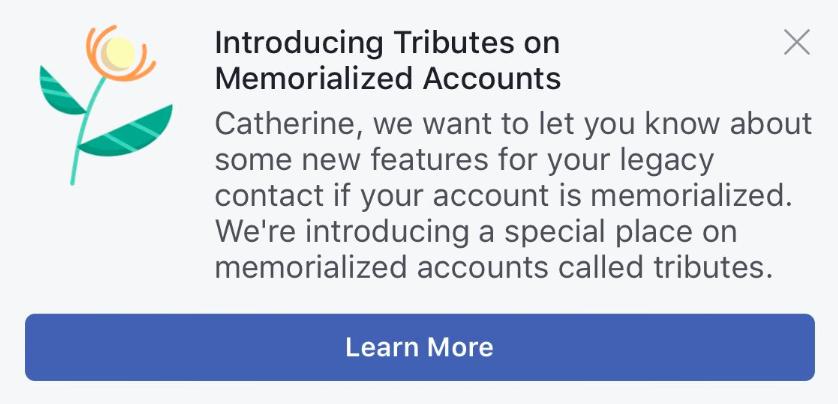 Facebook Hommages
