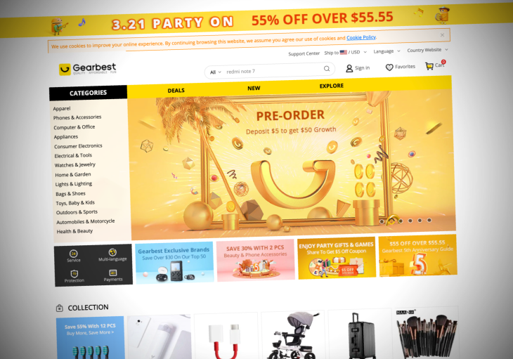 Gearbest security lapse exposed millions of shopping orders