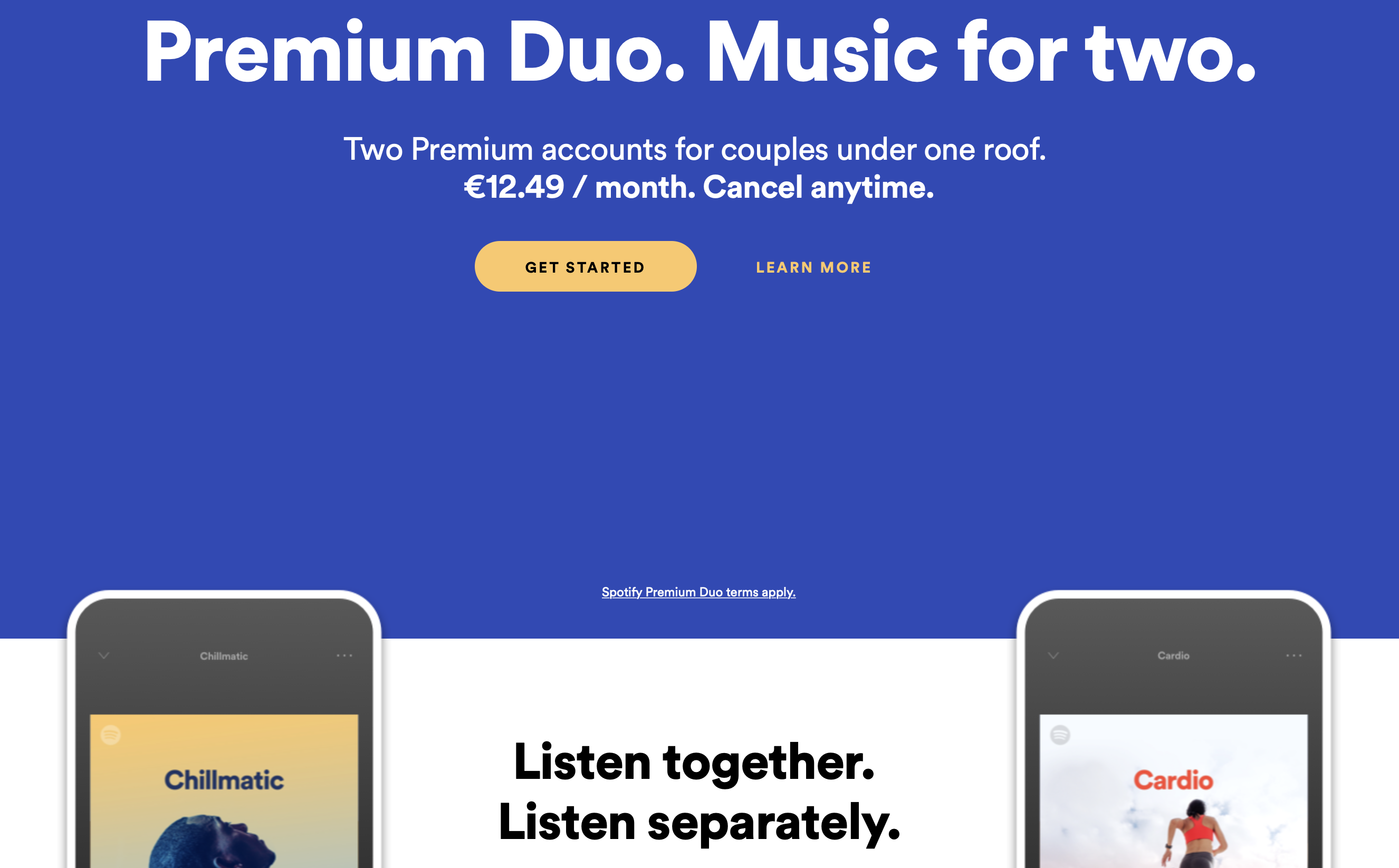 Spotify is testing Premium Duo for €12 49 per month | TechCrunch