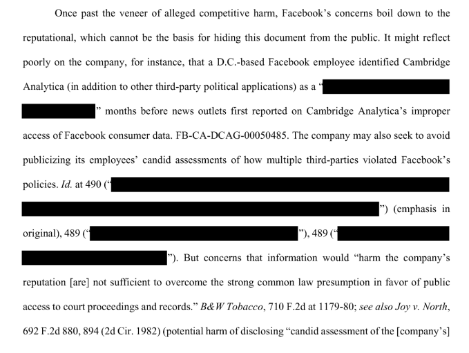Facebook staff raised concerns about Cambridge Analytica in