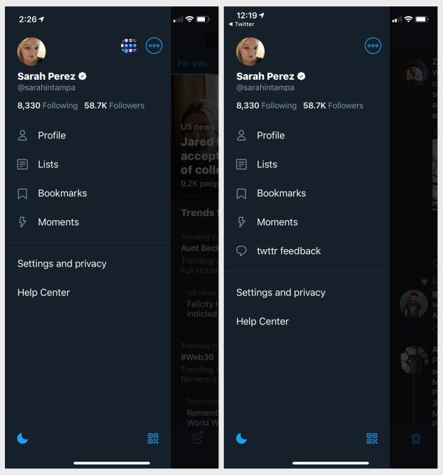 twttr buatan Twitter Aplikasi Purwarupa untuk Pengembangan