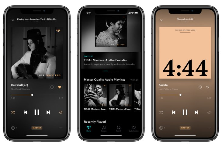 Tidal's high-fidelity 'Masters' audio mode lands on iOS apps