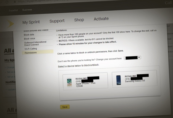 Sprint Customers Say a Glitch Exposed Other People's Account Information