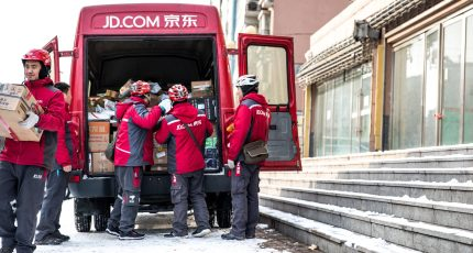 8589fc8e9ab1 Alibaba s arch-foe JD.com has long prided itself on owning and controlling  its logistics services  couriers are treated as in-house staff and paid a  basic ...