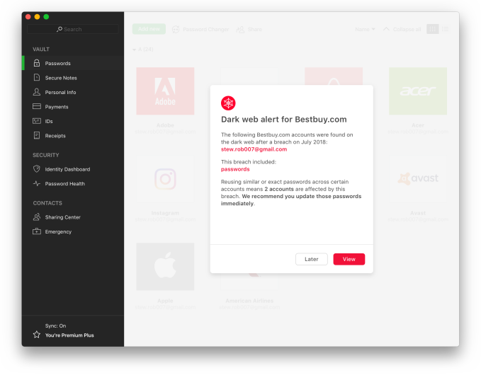 Password manager Dashlane closes on $30M, adds former