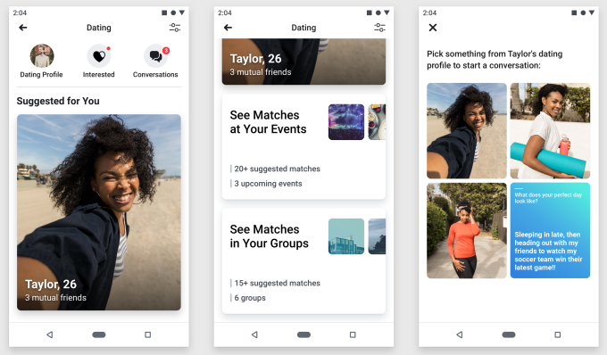 Facebook Dating opens to friends with Secret Crush | TechCrunch