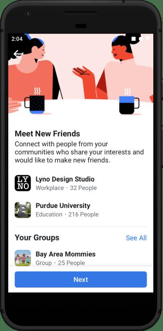 Old Facebook finally wants you to 'Meet New Friends' | TechCrunch