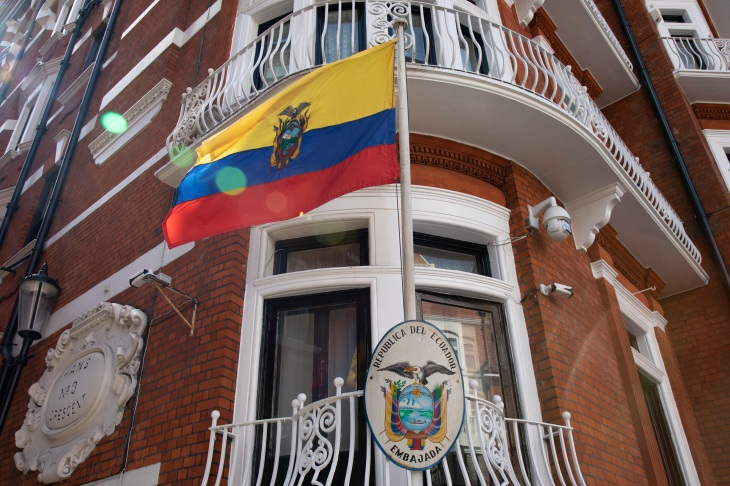 Julian Assange arrested in London after Ecuador withdraws