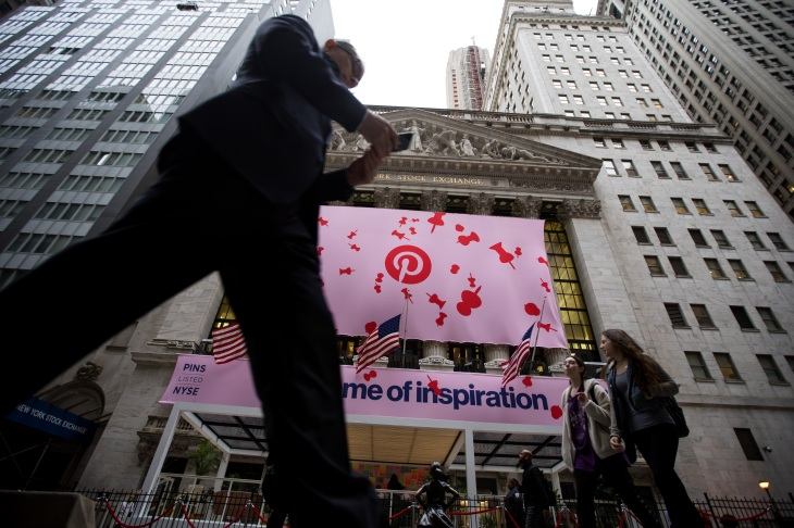 11a61a348db8 Pinterest is up more than 25% in its first day of trading | TechCrunch